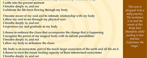 Body Soul Manifesto: cards with envelopes